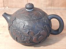 Handgeschnitzte Tonkanne aus Yunnan, ca. 220ml
